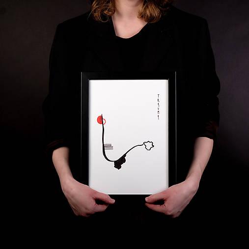trauma // akvarel na výkrese // A4 // abstraktná maľba