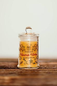Svietidlá a sviečky - Sviečka zo 100% včelieho vosku - Vianočná Vločka 125g/30hod (sviečka) - 11172037_