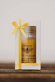 Svietidlá a sviečky - Sviečka zo 100% včelieho vosku - Vianočná Vločka 125g/30hod (darčekové balenie) - 11172044_