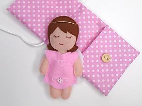 Hračky - Drobnosti v kapsičke pre dievčatá (Anjelik: ružový) - 11171312_