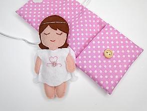 Hračky - Drobnosti v kapsičke pre dievčatá (Anjelik: biely) - 11171342_