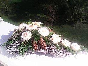 Dekorácie - Dekorácia na dušičky ... prírodná biela... - 11170798_