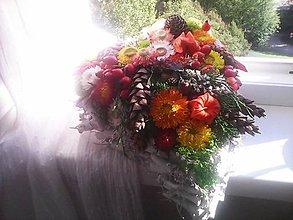 Dekorácie - Dekorácia na dušičky ... prírodná jesenná... - 11170898_