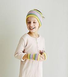 Detské doplnky - Pletená čelenka - Rainbow - 11170914_