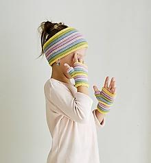 Detské doplnky - Detské rukavičky/nátepníčky - Rainbow - 11170945_