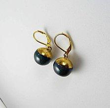Náušnice - Tana šperky - keramika/zlato - 11172534_