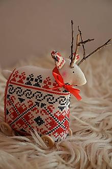 Dekorácie - Srnček - jelenček... - 11172766_