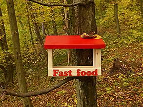 Pre zvieratká - FAST FOOD vtáčie kŕmidlo / krmítko pre vtáčiky - 11171432_