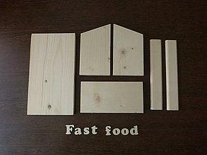Hračky - STAVEBNICA Vtáčie kŕmidlo / krmítko pre vtáčiky FAST FOOD - 11172024_