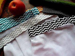 Úžitkový textil - Veselé EKO pytlíky - sáčky - bílá - sada 5ks - 11170772_
