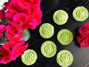 Úžitkový textil - Bella odlíčovacie tampóny zelené - #zerowaste, 7ks/sada - 11170977_