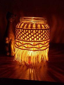 Nezaradené - Makramé dekorácia 2 na fľašu - 11172474_
