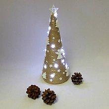 Dekorácie - ANDROMEDA - vianočná dekorácia - stromček s anielmi - 11170229_