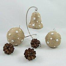 Dekorácie - ANDROMEDA - vianočná dekorácia - gule a zvonček - 11170238_