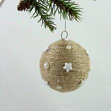 Dekorácie - ANDROMEDA - vianočná dekorácia - gule a zvonček (guľa ø 6,5 cm) - 11170245_