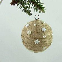 Dekorácie - ANDROMEDA - vianočná dekorácia - gule a zvonček (guľa ø 7,5 cm) - 11170258_