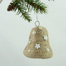 Dekorácie - ANDROMEDA - vianočná dekorácia - gule a zvonček (zvonček 6,5 x 6,5 cm) - 11170262_