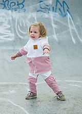 Detské oblečenie - Zimná softshell bunda Double (staroružová/biela) - 11170153_