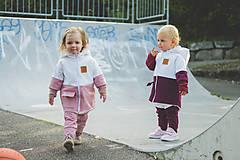 Detské oblečenie - Zimná softshell bunda Double (staroružová/biela) - 11170154_