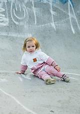 Detské oblečenie - Zimná softshell bunda Double (staroružová/biela) - 11170155_