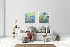 Obrazy - Séria abstraktných obrazov (2ks) - 11173025_