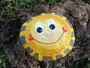 """Dekorácie - Maľovaný kameň """" Jesenné slnko"""" - 11171868_"""