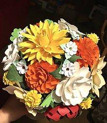 Dekorácie - Babie leto vo vaze - kytica z papierovych kvetov - 11173266_