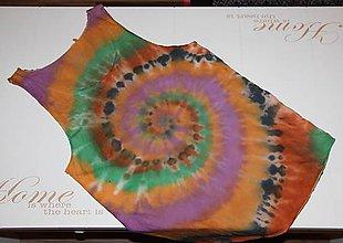 """Oblečenie - Pánske tričko, veľkosť M, """"farebná špirála"""" - 11172599_"""