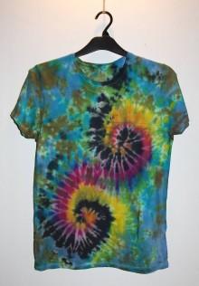 """Oblečenie - Pánske tričko, veľkosť S, """"špirály"""" - 11172772_"""