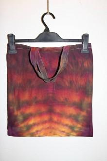 """Nákupné tašky - Batikovaná taška s krátkou rúčkou, """"zemské vrstvy"""" - 11173280_"""