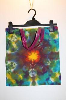 """Nákupné tašky - Batikovaná taška s krátkou rúčkou, """"slnko"""" - 11173281_"""
