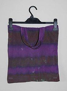 """Nákupné tašky - Batikovaná taška s krátkou rúčkou, """"pásy"""" - 11173282_"""