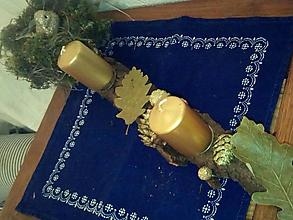 Svietidlá a sviečky - Karkulka na hniezde. (12 x 40 cm - Zlatá) - 11171114_