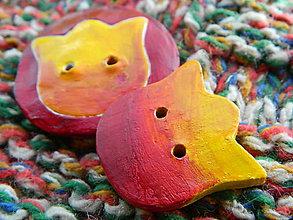 Drobnosti - Gombík tulipán žltočervený - 11170993_