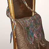 Veľké tašky - Veľká taška z ovčej vlny s klopou - 11171613_