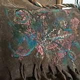 Veľké tašky - Veľká taška z ovčej vlny s klopou - 11171616_