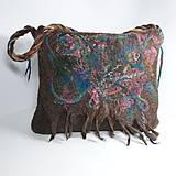 Veľké tašky - Veľká taška z ovčej vlny s klopou - 11171617_