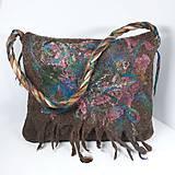 Veľké tašky - Veľká taška z ovčej vlny s klopou - 11171618_