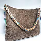 Veľké tašky - Veľká taška z ovčej vlny s klopou - 11171622_