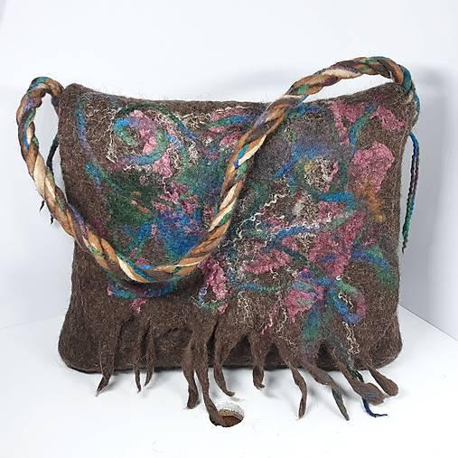 Veľká taška z ovčej vlny s klopou