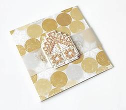 Papiernictvo - Puto domova  VI - vyšívaná vianočná pohľadnica - 11171988_