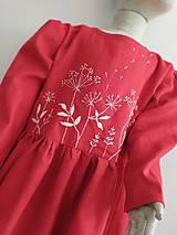 Detské oblečenie - Dievčenské ľanové vyšívané šaty - 11171223_