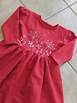 Detské oblečenie - Dievčenské ľanové vyšívané šaty - 11171224_