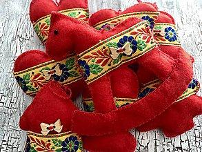 Dekorácie - Folklórne Vianoce-sada ozdôb 8ks - 11171218_