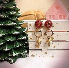 Náušnice - Vianočné náušnice napichovacie muchotrávky, chirurgická oceľ - 11172060_