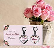Darčeky pre svadobčanov - Svadobný prívesok - 11175693_