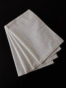 Úžitkový textil - Prestieranie - Strieborné hviezdičky na smotanovom podklade - 11175534_