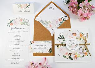 Papiernictvo - Svadobné oznámenie Rosa so špagátikom - 11176325_