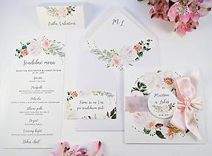 Papiernictvo - Svadobné oznámenie Rosa so stuhou - 11176353_
