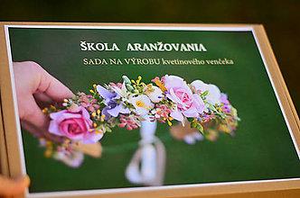 Návody a literatúra - ŠKOLA ARANŽOVANIA - kvetinový venček - 11175404_